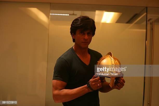 Shah Rukh Khan during the Press conference of Kolkata Knight Riders at his residance at Mannat -
