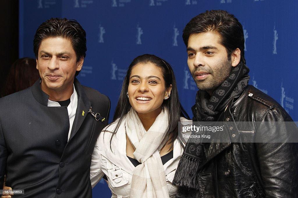 Shah Rukh Khan Kajol Devgan * Karan Johar Beim `My Name Is Khan` Photocall Bei Der 60 Berlinale In Berlin