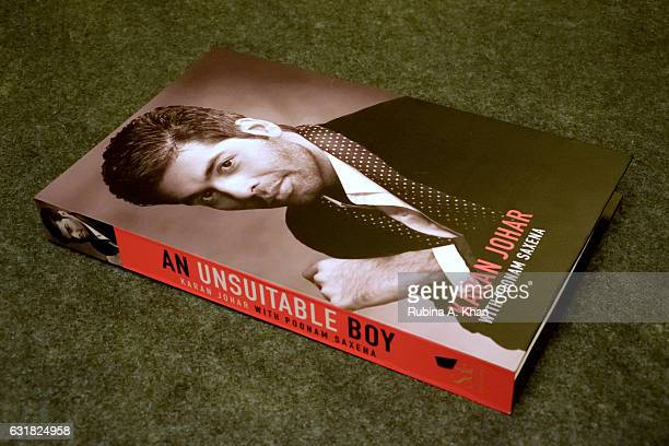 Shah Rukh Khan launches Karan Johar's new book 'An Unsuitable Boy' published by Penguin India and written by the filmmaker and Poonam Saxena at Taj...