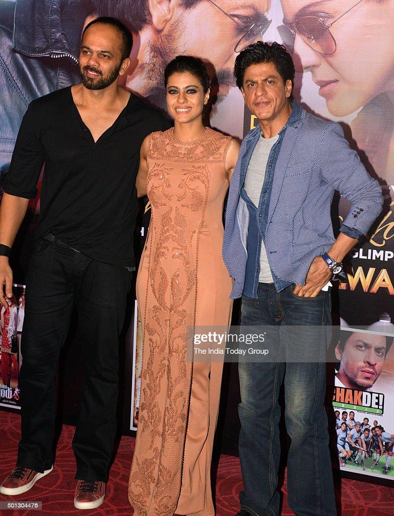 Shah Rukh Khan Rohit Shetty and Kajol promoting their upcoming movie `Dilwale` in Mumbai