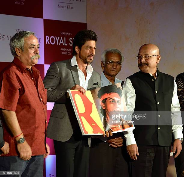 Shah Rukh Khan unveils the book SRK 25 Years Of A Life alongside Piyush Pandey at Taj Lands End on November 9 2016 in Mumbai India
