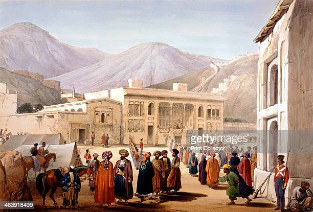 Shah Shoja puppet of the British holding a durbar at Kabul First AngloAfghan War 18381842 A former ally of the British from the Napoleonic Wars Shah...
