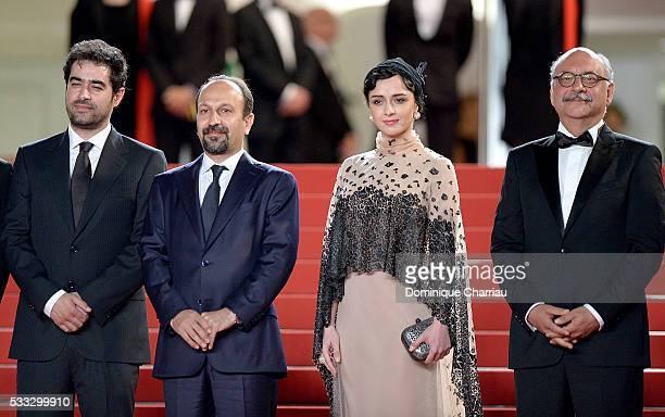 Shahab Hossein Director Ashgar Farhadi and Taraneh Alidoosti attend 'The Salesman ' Premiere during the 69th annual Cannes Film Festival at the...