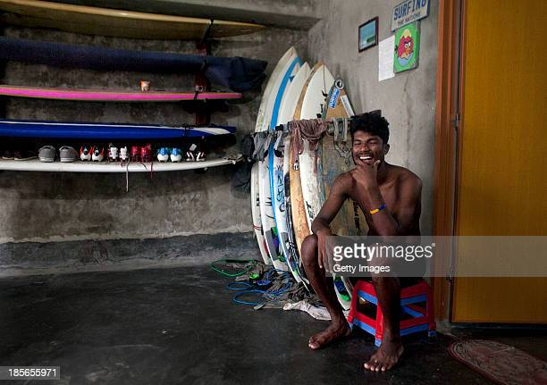 COX'S BAZAR BANGLADESH OCTOBER 23 Shahadat Hosen poses for a photograph in his home October 23 2013 in Cox's Bazar Bangladesh Cox's Bazar is the...