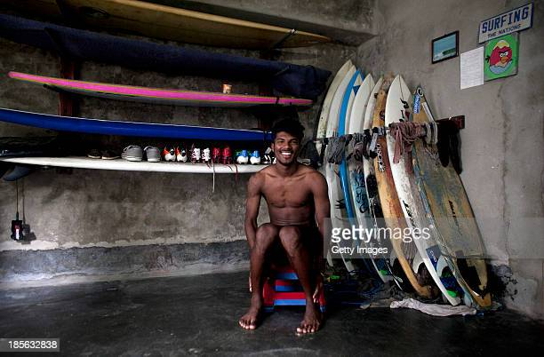 COX'S BAZAR BANGLADESH OCTOBER 23 Shahadat Hosen poses for a photograph in his home on October 23 2013 in Cox's Bazar Bangladesh Cox's Bazar is the...