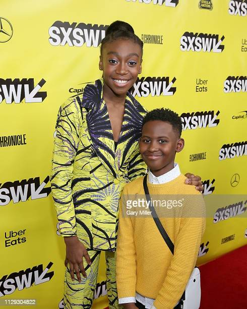"Shahadi Wright Joseph and Evan Alex attend the premiere of ""Us"" at the Paramount Theater during the 2019 SXSW Conference And Festival on March 8,..."