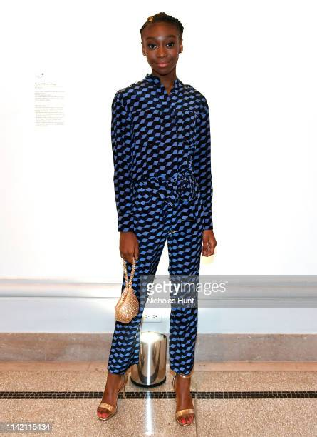 Shahadi Wright Joseph attends 10th Annual DVF Awards at Brooklyn Museum on April 11, 2019 in New York City.