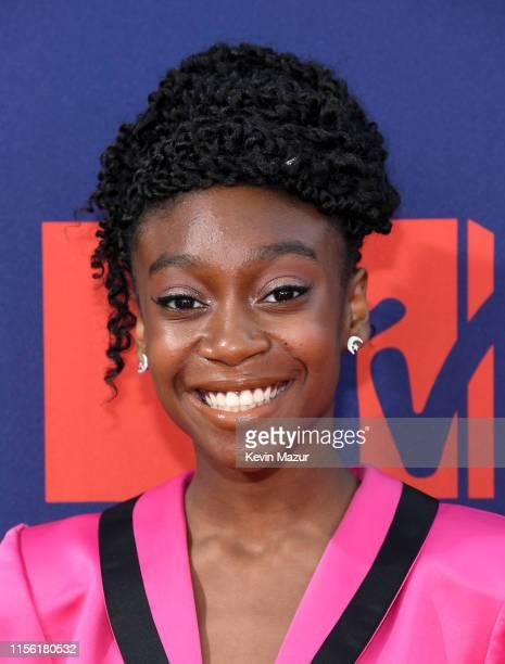 Shahadi Wright Joseph attends the 2019 MTV Movie and TV Awards at Barker Hangar on June 15 2019 in Santa Monica California