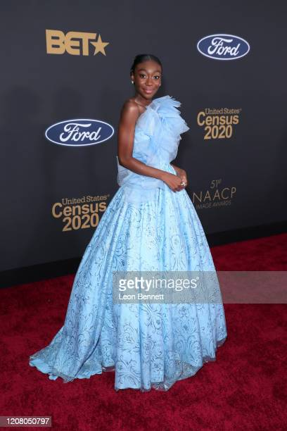 Shahadi Wright Joseph attends the 51st NAACP Image Awards, Presented by BET, at Pasadena Civic Auditorium on February 22, 2020 in Pasadena,...