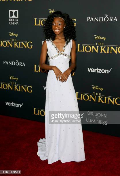 "Shahadi Wright Joseph attends the premiere of Disney's ""The Lion King"" at Dolby Theatre on July 09, 2019 in Hollywood, California."
