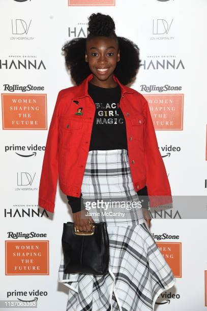 Shahadi Wright Joseph attends the Rolling Stone's Women Shaping The Future Brunch at the Altman Building on March 20 2019 in New York City
