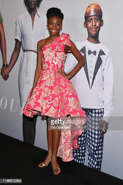 "Shahadi Wright Joseph attends the ""US"" New York Premiere at The Museum of Modern Art on March 19, 2019 in New York City."