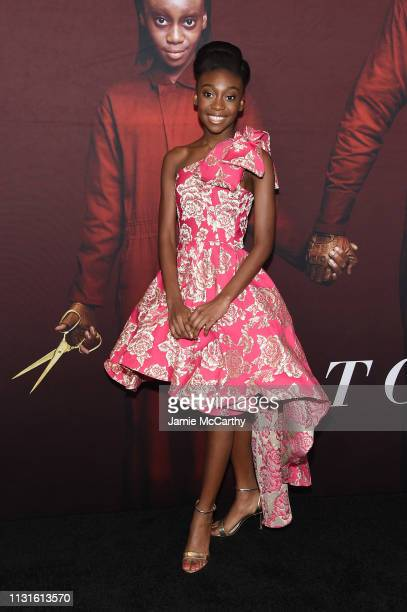 "Shahadi Wright Joseph attends the ""US"" premiere at Museum of Modern Art on March 19, 2019 in New York City."