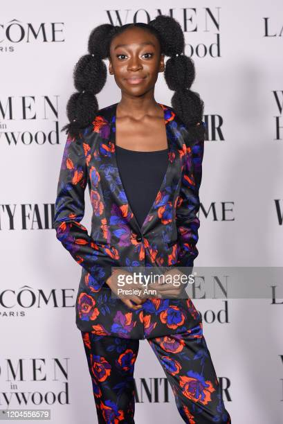 Shahadi Wright Joseph attends the Vanity Fair and Lancôme women in hollywood celebration at Soho House on February 06, 2020 in West Hollywood,...