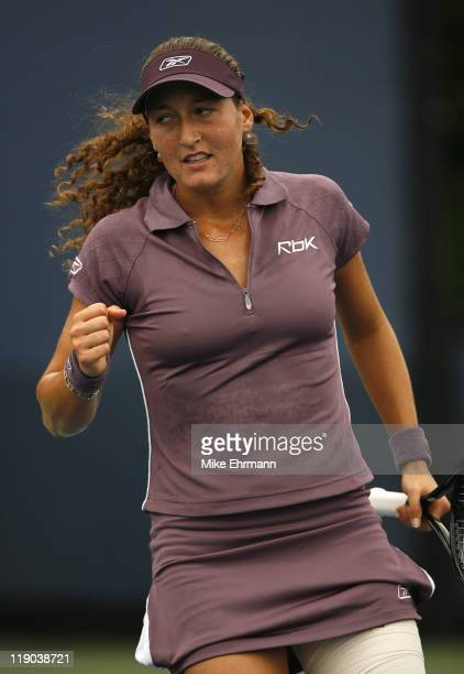 Shahar Peer during a first round match against Vasilisa Bardina at the 2006 US Open at the USTA National Tennis Center in Flushing Queens, NY on...