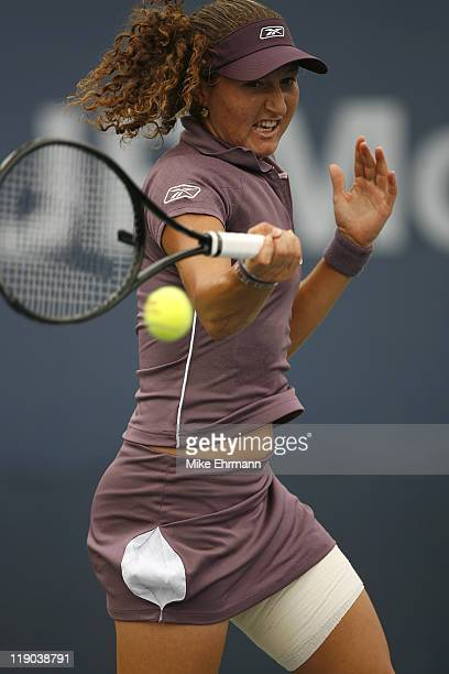 Shahar Peer during a first round match against Vasilisa Bardina at the 2006 US Open at the USTA National Tennis Center in Flushing Queens NY on...
