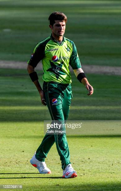 Shaheen Afridi of Pakistan during the 2nd KFC T20 International match between South Africa and Pakistan at Imperial Wanderers Stadium on April 12,...