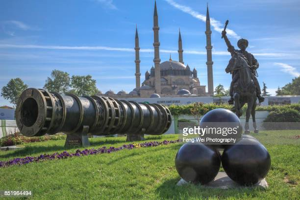 shahi cannon, edirne, turkey - selimiye mosque stock pictures, royalty-free photos & images