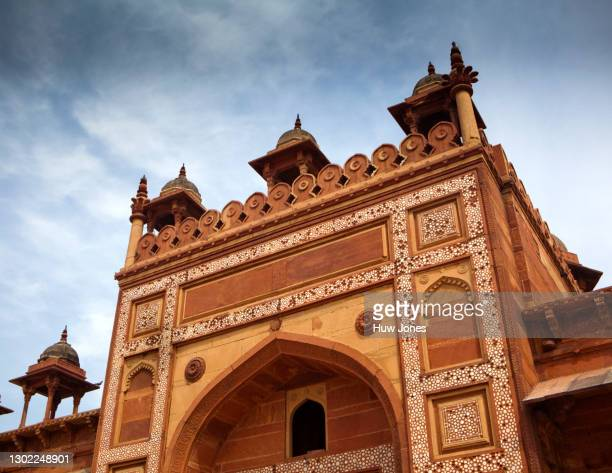 shahi darwaza gateway, jama masjid mosque, agra, india - agra jama masjid mosque 個照片及圖片檔