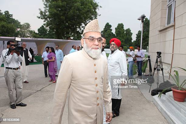 Shahi Imam of Jama Masjid Syed Ahmed Bukhari during an Eid Milan celebrations hosted by Pakistan High Commissioner Abdul Basit at the Pakistan High...