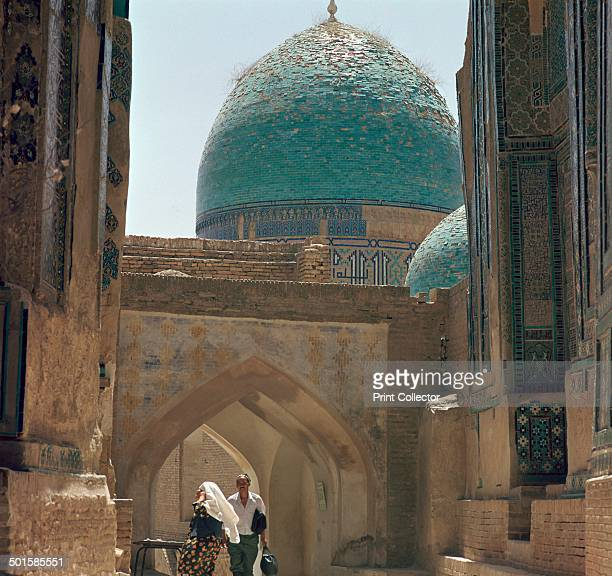 ShahI Zindeh group of mausoleums in Samarkand a place of pilgrimage for muslims 14th century