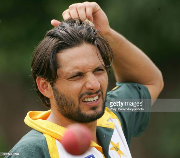 Shahid Afridi of Pakistan during a training session before the tour match between England A and Pakistan at the St Lawrence Ground Canterbury 5th...