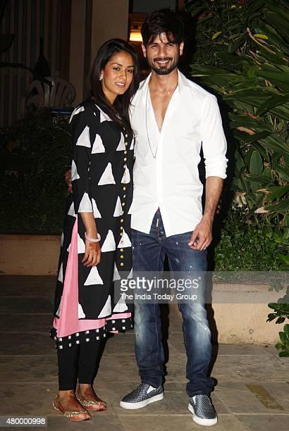 Shahid Kapoor along with his wife Mira Rajput in Mumbai
