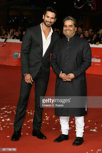 Shahid Kapoor and Vishal Bhardwaj attend the 'Haider' Red Carpet during the 9th Rome Film Festival on October 24 2014 in Rome Italy