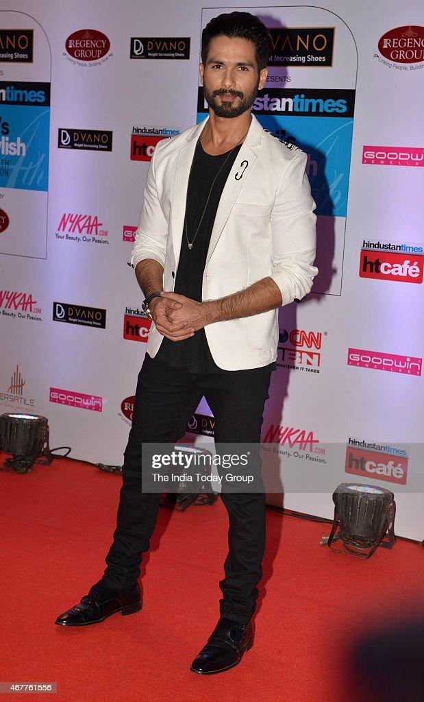 Shahid Kapoor at HT Mumbais most stylish awards 2015 in Mumbai.