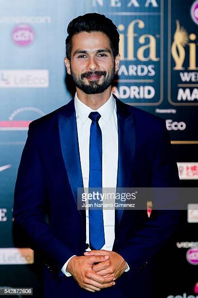 Shahid Kapoor attends IIFA Awards 2016 Rocks Green Carpet at Ifema on June 24 2016 in Madrid Spain