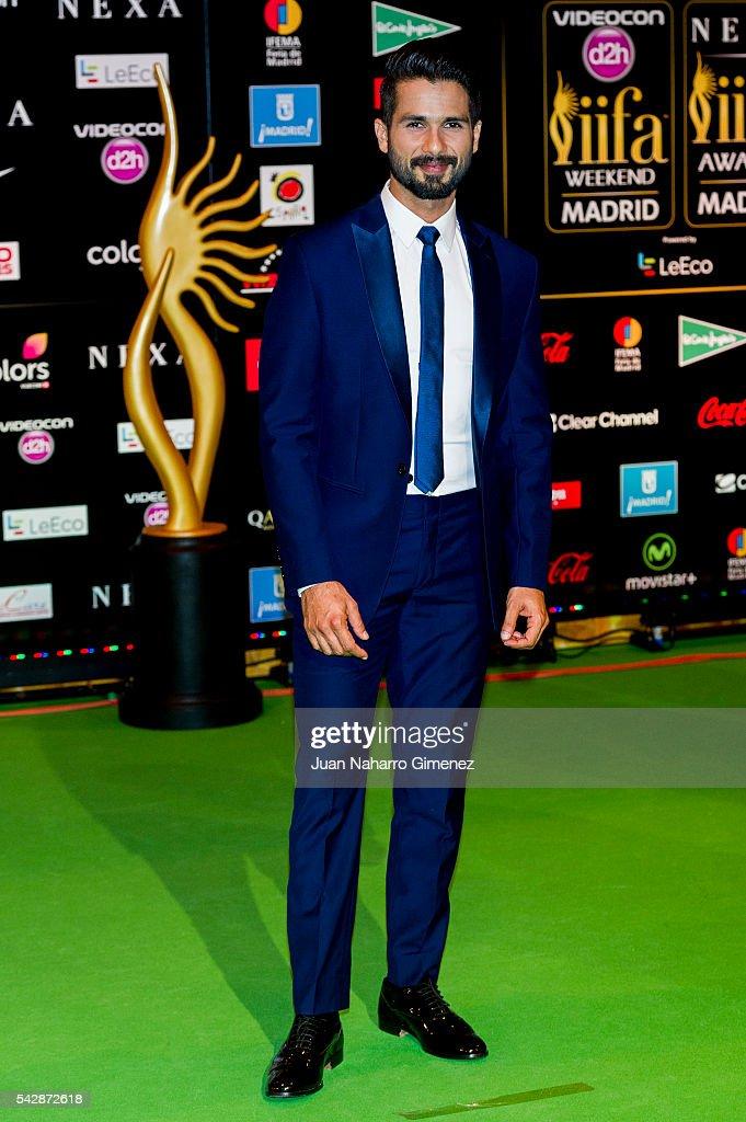 Shahid Kapoor attends IIFA Awards 2016 - Rocks Green Carpet at Ifema on June 24, 2016 in Madrid, Spain.