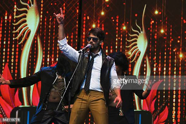 Shahid Kapoor attends the 17th IIFA Awards ceremony at Ifema on June 25 2016 in Madrid Spain