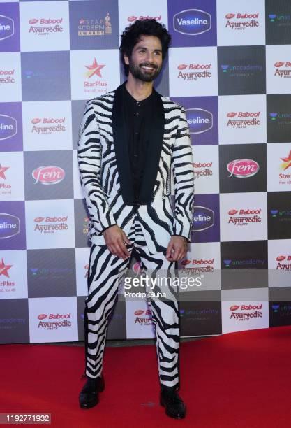 Shahid Kapoor attends the Star Screen Awards 2019 at Filmcity on December 082019 in Mumbai India
