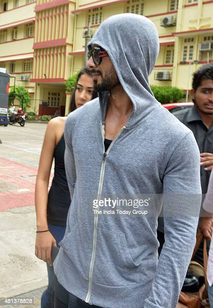 Shahid Kapoor with his wife Mira Rajput spotted outside gym in Mumbai