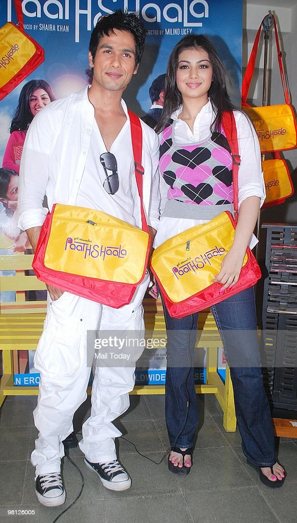 Shahid Kapur and Ayesha Takia at a promotional event for the film Paathshala in Mumbai on March 28 2010