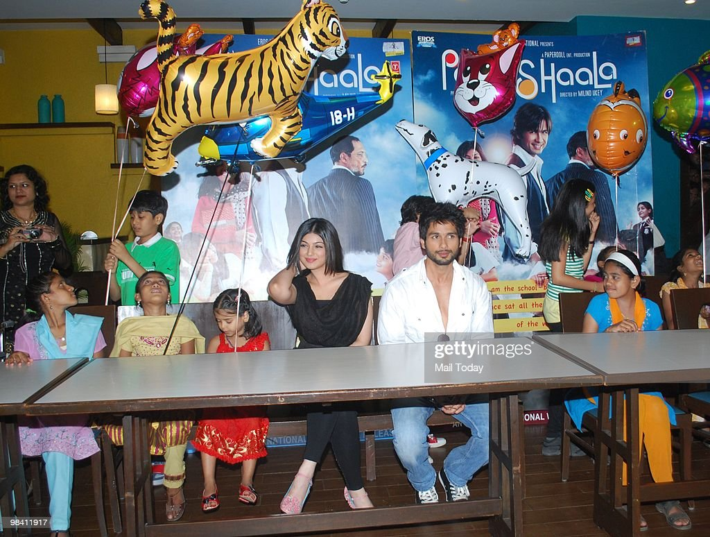 Shahid Kapur and Ayesha Takia at a promotional event for the film Pathshaala in Mumbai on April 11 2010