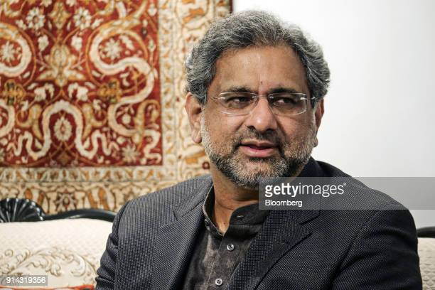 Shahid Khaqan Abbasi Pakistan's prime minister speaks during an interview in Islamabad Pakistan on Thursday Feb 1 2018 There's no military solution...