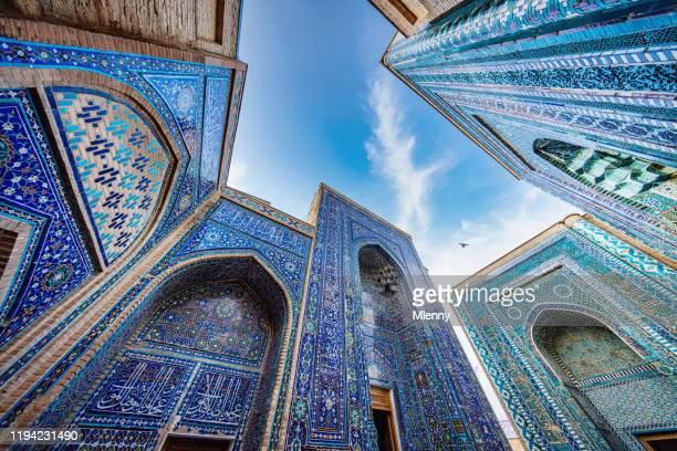 shah-i-zinda mausoleum samarkund usbekistan shohizinda nekropole - mausoleum stock-fotos und bilder