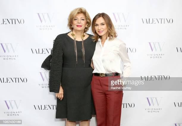 Shahla Javdan and Visionary Women's Executive Board Member Angella Nazarian attend Visionary Women Consciousness The Ultimate Intelligence An Evening...
