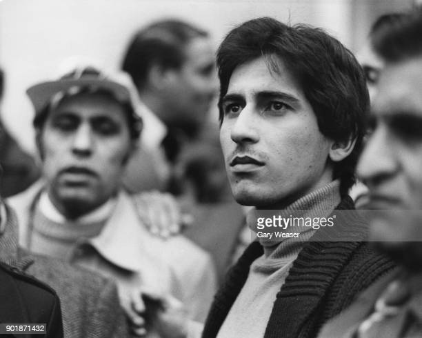 Shahnawaz Bhutto the son of Zulfikar Ali Bhutto the former President of Pakistan leads a demonstration outside the Pakistan Embassy in Lowndes Square...