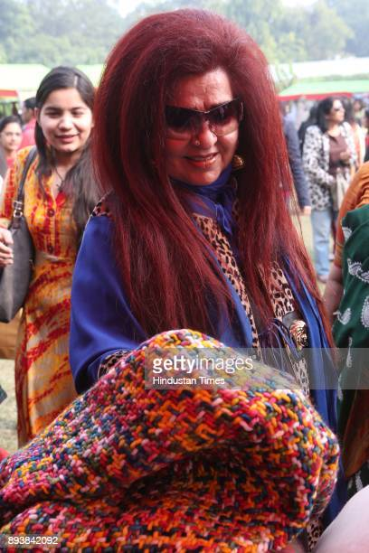 Shahnaz Husain CEO of Shahnaz Herbals Inc during the Winter Carnival 2017 organised by NGO Tamanna at the Residence of British High Commissioner on...