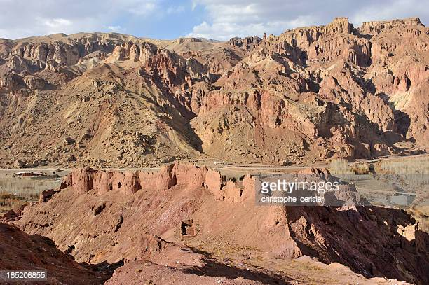 shahr-e nau old fort, afghanistan - bamiyan stock pictures, royalty-free photos & images