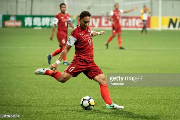 Shahril Ishak of Home United in action during the AFC Cup Zonal Semi final between Home United and Persija Jakarta at Jalan Besar Stadium on May 8...