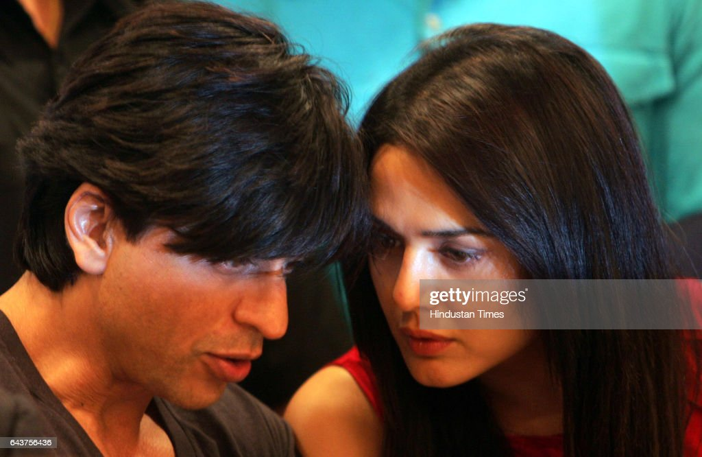 Shahrukh Khan and Preity Zinta during a media conference after the IPL Players auction at Hilton Towers on wednesday