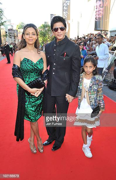 Shahrukh Khan arrives at the London premiere of 'Raavan' at BFI Southbank on June 16 2010 in London England