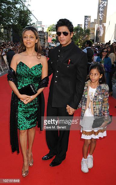 Shahrukh Khan attends the World film premiere of 'Raavan', at the BFI Southbank on June 16, 2010 in London, England.