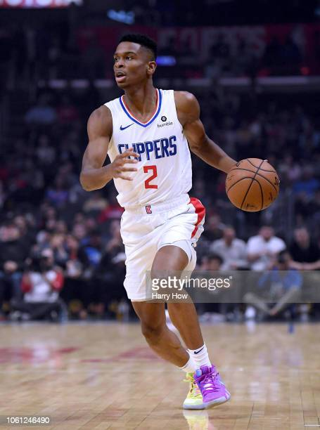 Shai GilgeousAlexander of the LA Clippers dribbles during the game against the Minnesota Timberwolves at Staples Center on November 5 2018 in Los...