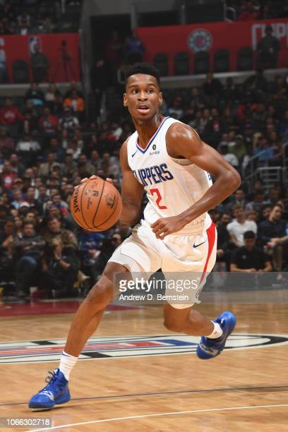 Shai GilgeousAlexander of the LA Clippers handles the ball against the Phoenix Suns on November 28 2018 at STAPLES Center in Los Angeles California...