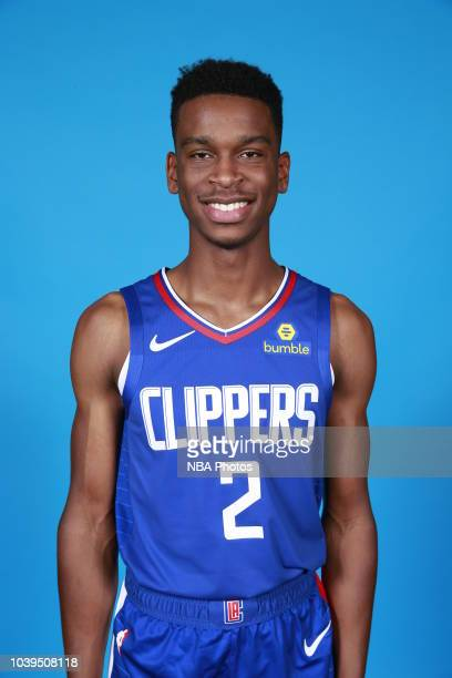 Shai Gilgeous-Alexander of the LA Clippers poses for a head shot during media day on September 24, 2018 at Clippers Training Center in Playa Vista,...