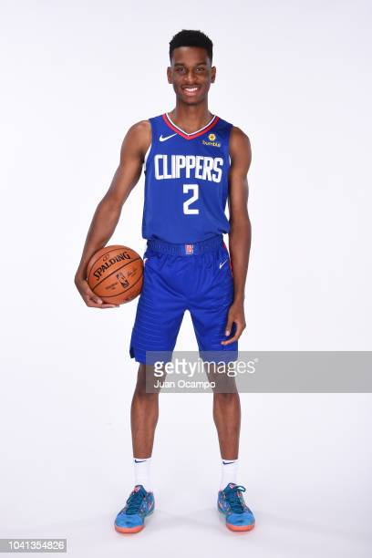 Shai GilgeousAlexander of the LA Clippers poses for a portrait during media day at the LA Clippers Training Center on September 24 2018 in Playa...